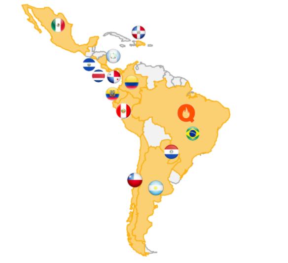 Presença geográfica Smart Fit.